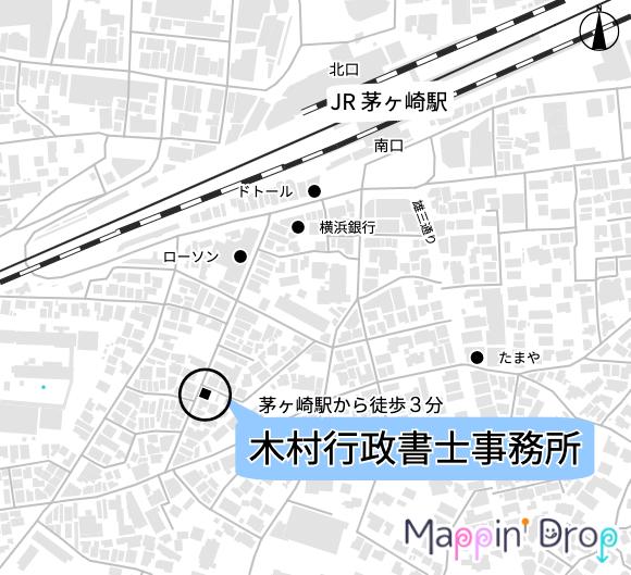 事務所位置の地図